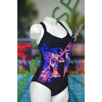Arena Bodylift Badeanzug Blur low cut C-cup one piece